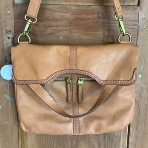 Fossil smooth leather Erin messenger crossbody bag